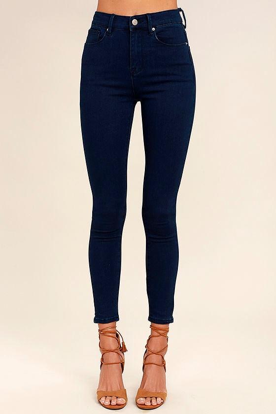 Go On Dark Wash High-Waisted Skinny Jeans 2