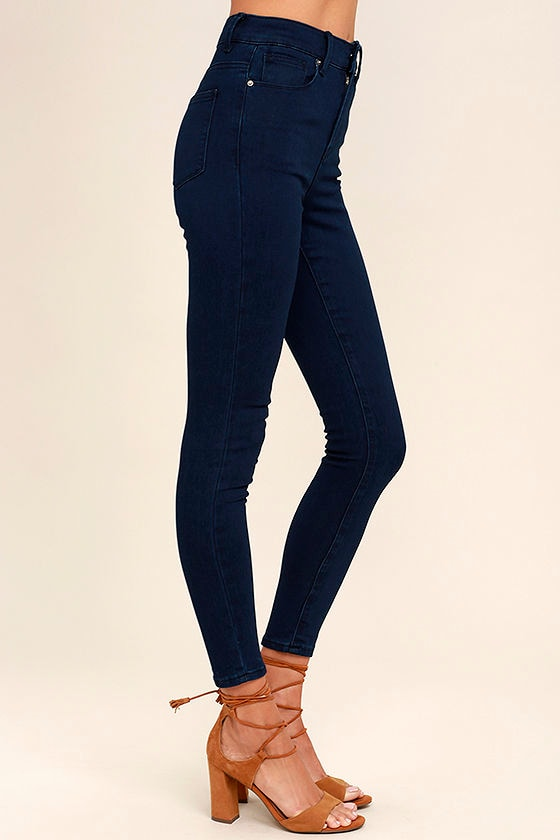 Cool Dark Wash Jeans - High-Waisted Jeans - Skinny Jeans - $39.00
