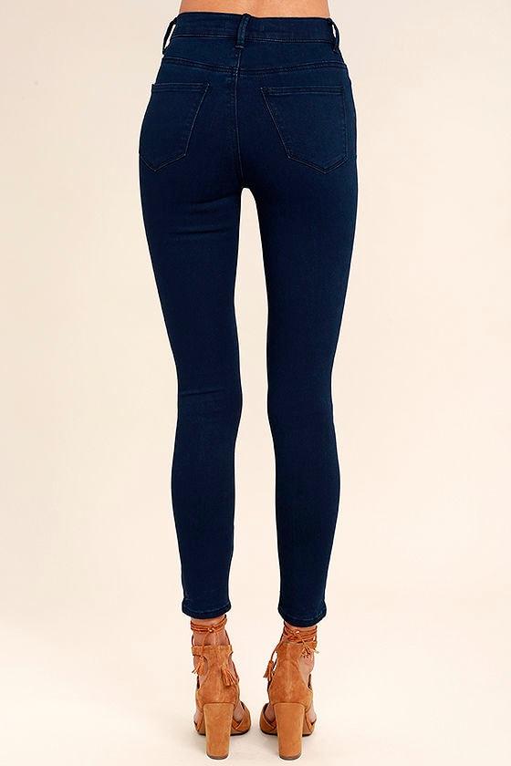 Go On Dark Wash High-Waisted Skinny Jeans 4