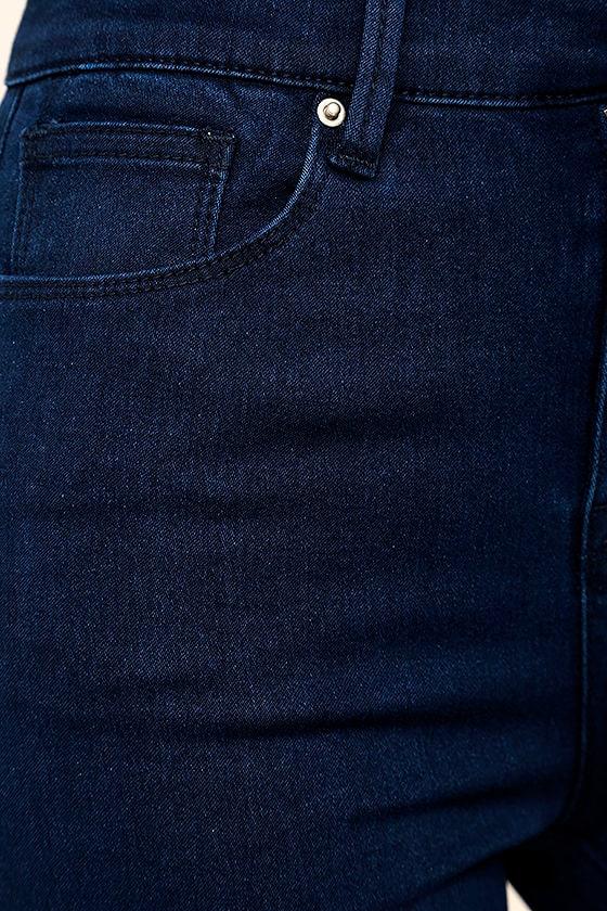 Go On Dark Wash High-Waisted Skinny Jeans 6