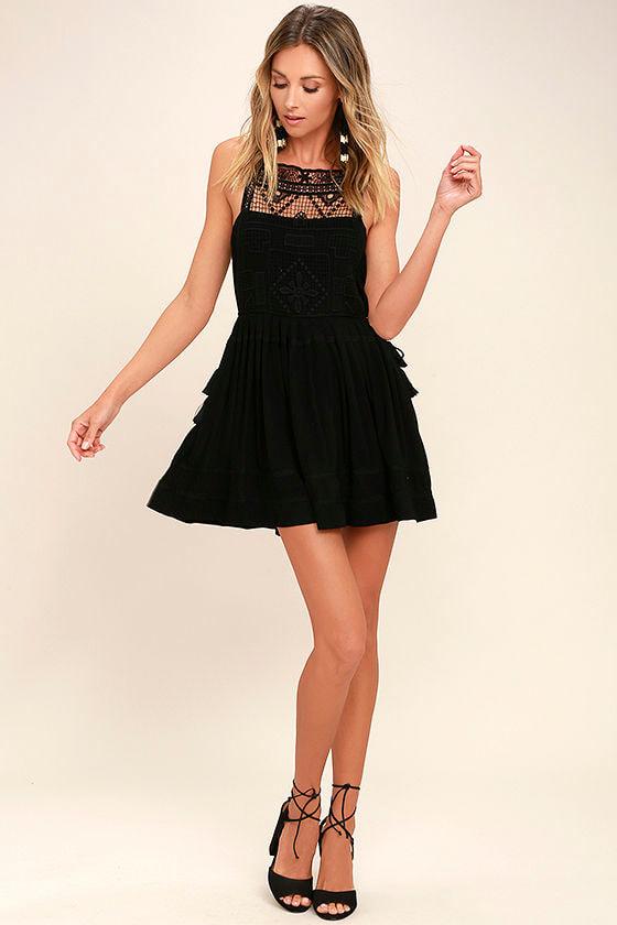Idyllic Black Lace Dress 2