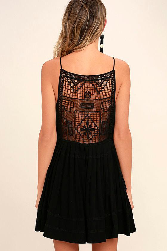 Idyllic Black Lace Dress 4