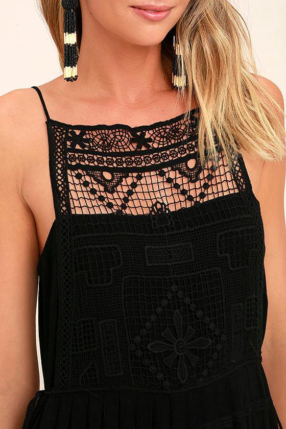 Idyllic Black Lace Dress 5