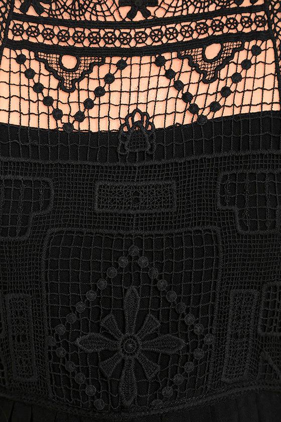 Idyllic Black Lace Dress 6