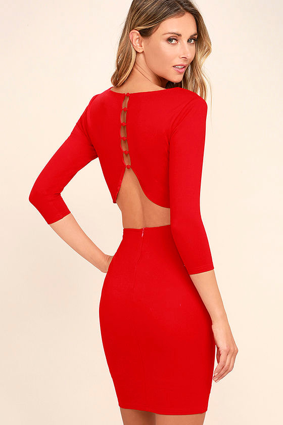 Shape of You Red Bodycon Dress 1