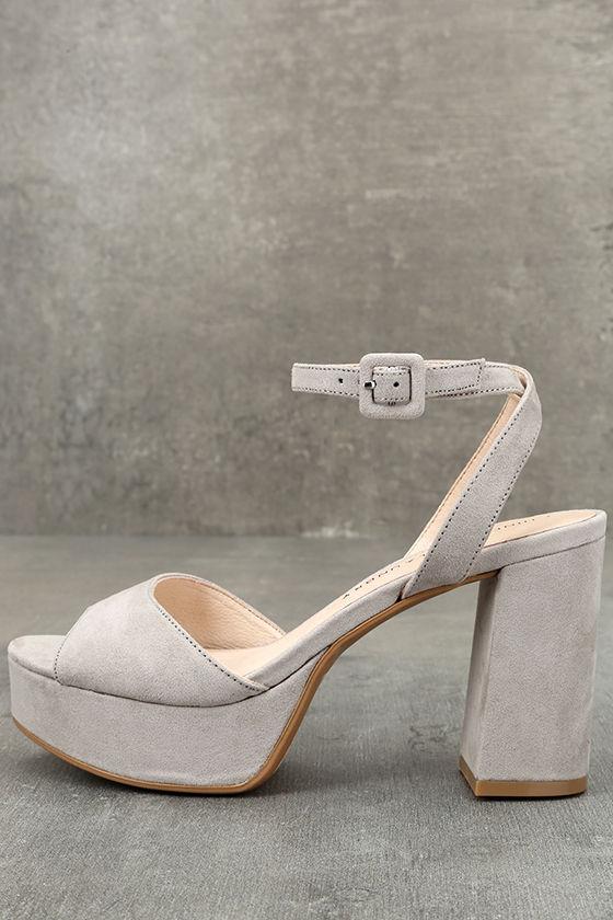 0196064bbd Chinese Laundry Theresa Smoke Grey - Grey Heels - Pink Platform Heels -   70.00