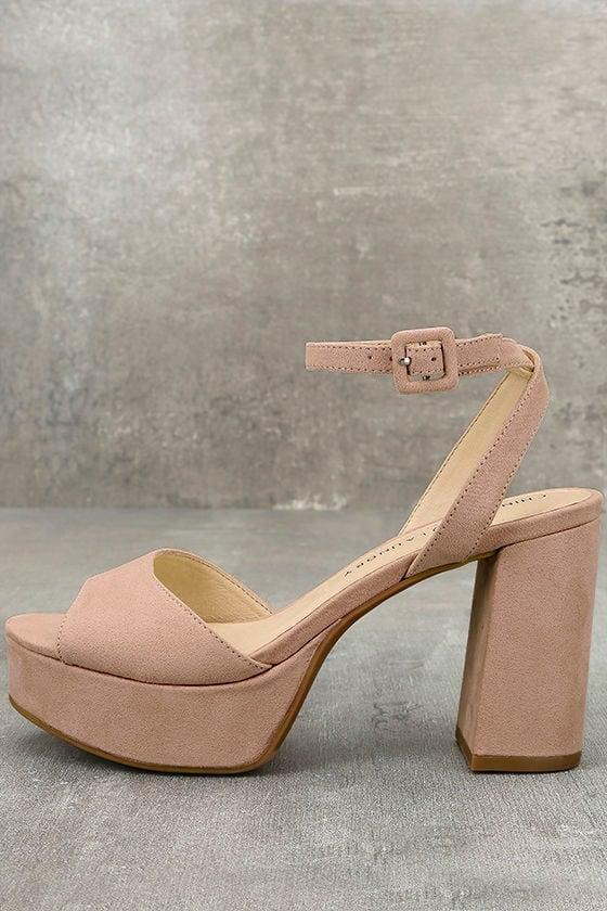 c53b3e1314 Chinese Laundry Theresa Rose - Pink Heels - Pink Platform Heels - $70.00