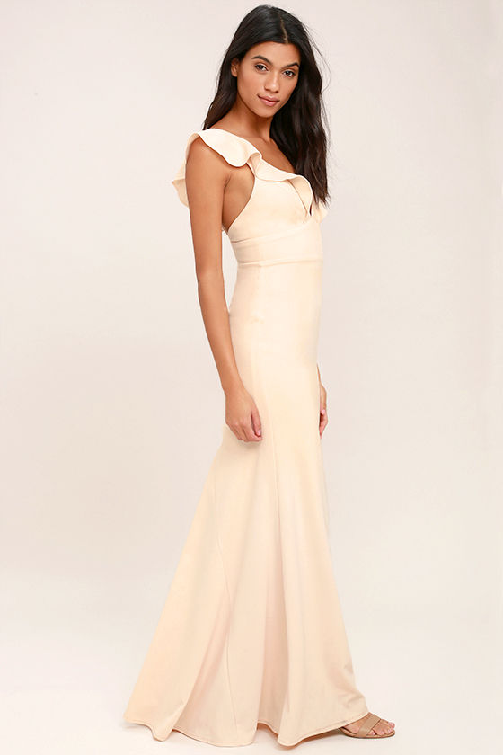 Perfect Opportunity Pale Blush Maxi Dress 2