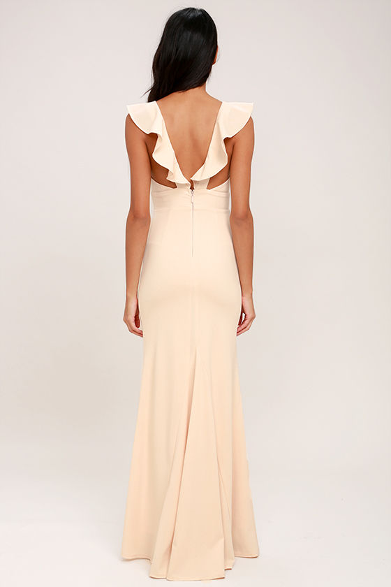 Perfect Opportunity Pale Blush Maxi Dress 4