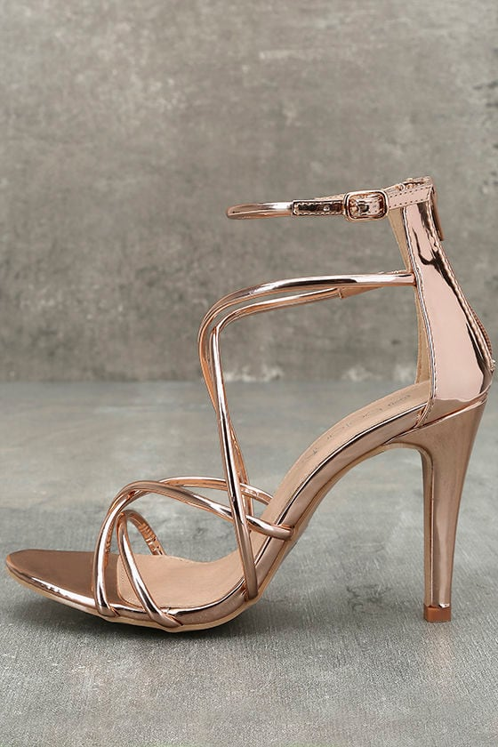 Annora Champagne Patent Dress Sandals 1