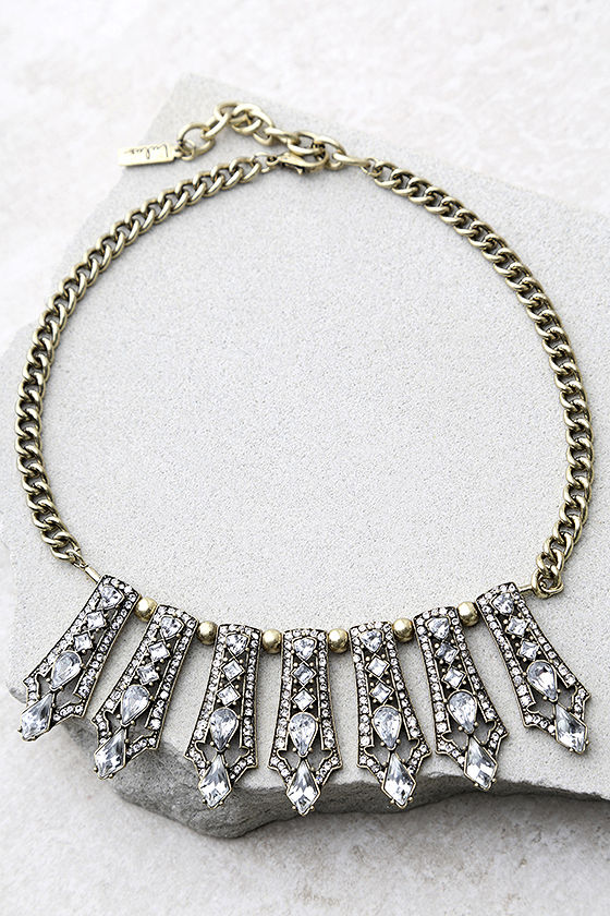 Take a Chance Gold Rhinestone Choker Necklace 2
