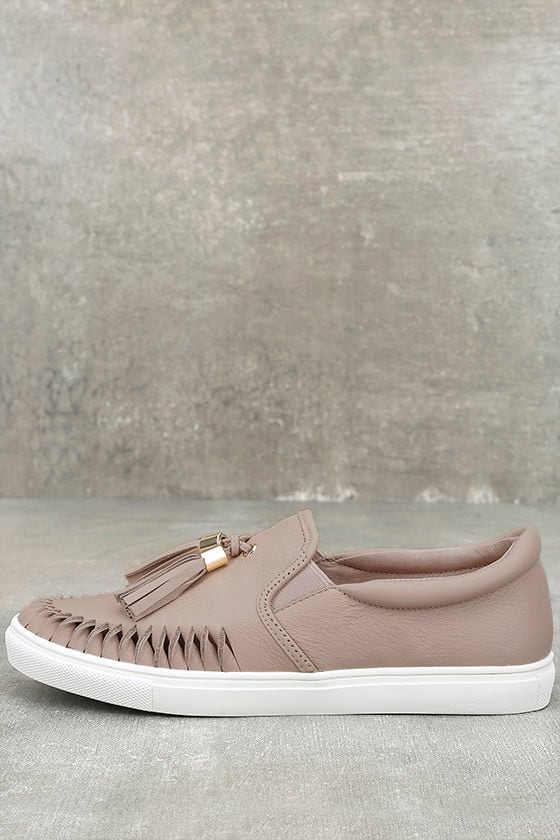 J Slides Cheyenne Nude Leather Slip-On Sneakers 1