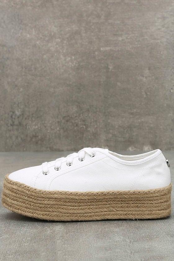 Steve Madden Hampton White Flatform Espadrille Sneakers 1