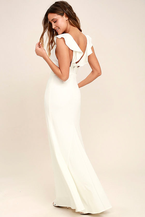 Perfect Opportunity White Maxi Dress 3