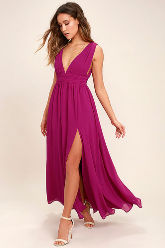 eed133e7503 Heavenly Hues Magenta Maxi Dress
