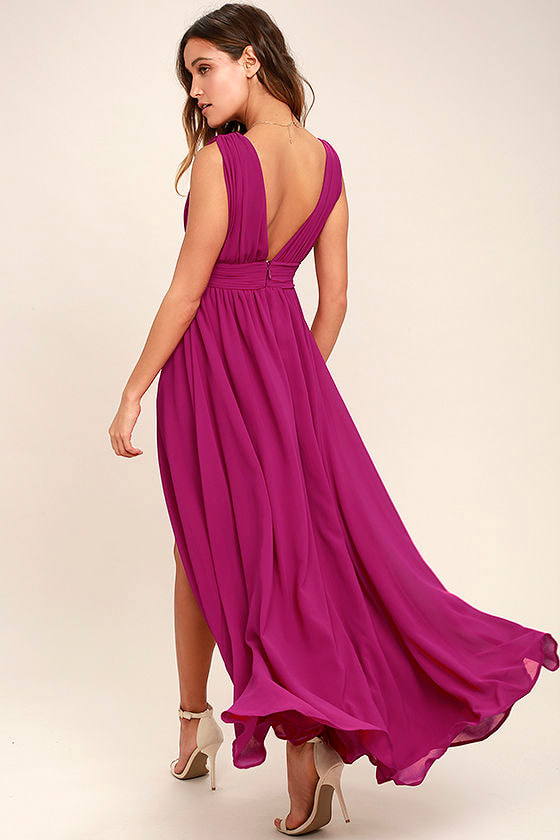 Heavenly Hues Magenta Maxi Dress 3
