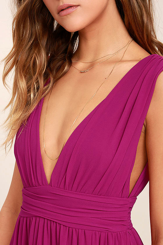 Heavenly Hues Magenta Maxi Dress 5