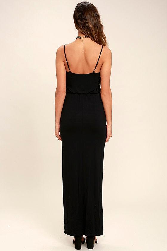 Watch the Sunset Black Maxi Dress 4