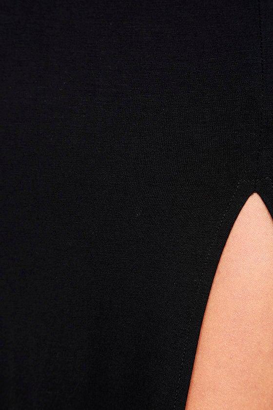 Watch the Sunset Black Maxi Dress 6