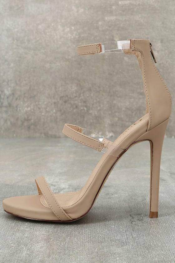 Making Magic Nude Nubuck High Heel Sandals 1