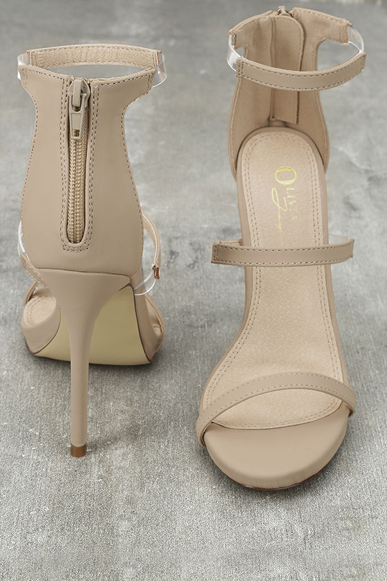 Making Magic Nude Nubuck High Heel Sandals 3