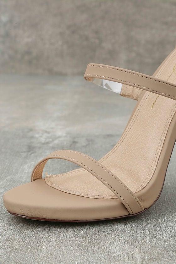 Making Magic Nude Nubuck High Heel Sandals 6