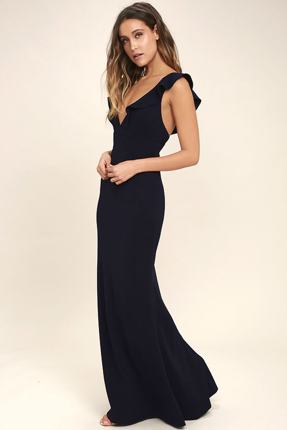 Perfect Opportunity Navy Blue Maxi Dress 2