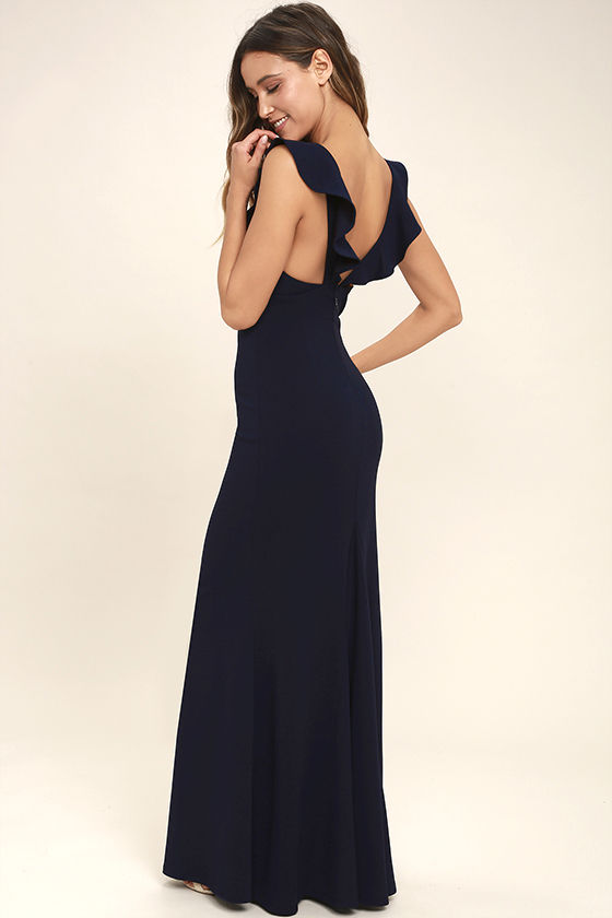Perfect Opportunity Navy Blue Maxi Dress 3