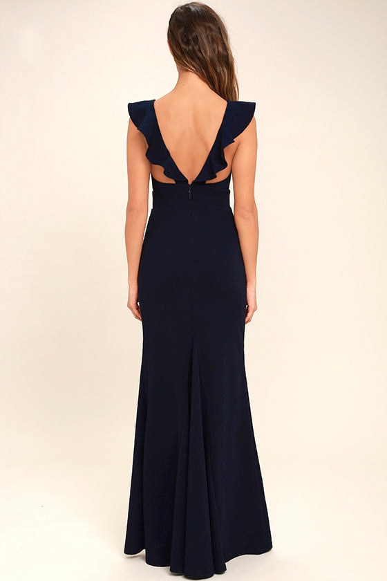 Perfect Opportunity Navy Blue Maxi Dress 4