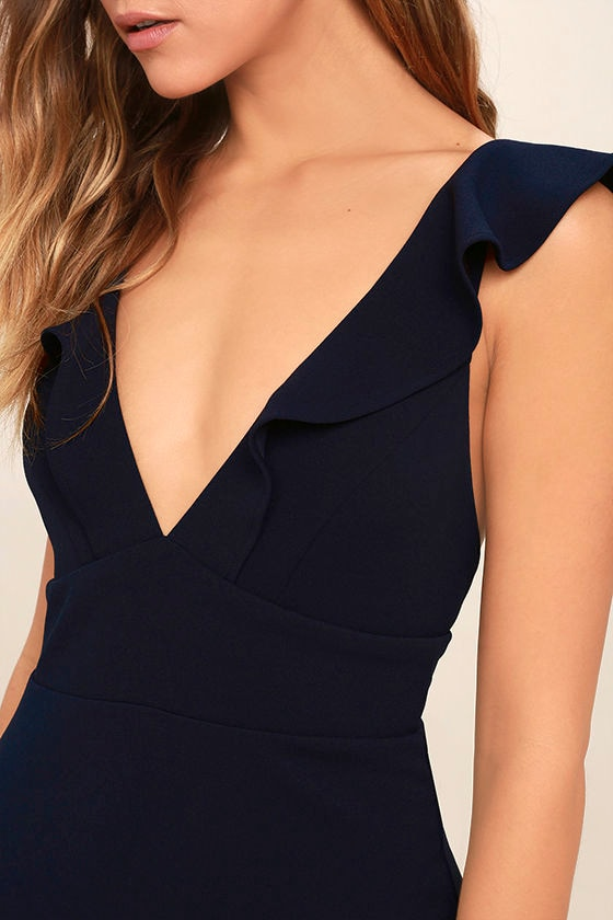Perfect Opportunity Navy Blue Maxi Dress 5