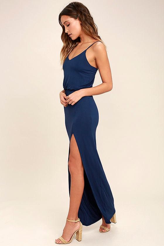 Watch the Sunset Navy Blue Maxi Dress 2