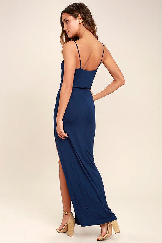 Watch the Sunset Navy Blue Maxi Dress 3