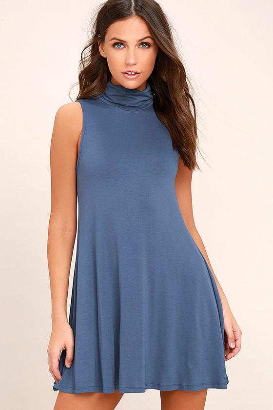 Carpe Diem Denim Blue Swing Dress 1