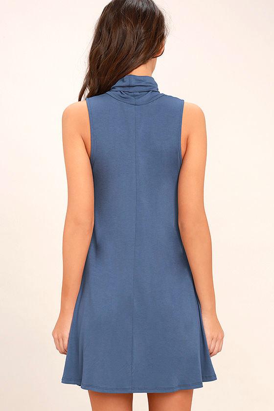 Carpe Diem Denim Blue Swing Dress 4
