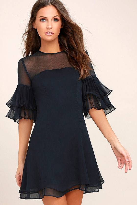 Keepsake Say You Will Navy Blue Dress 1