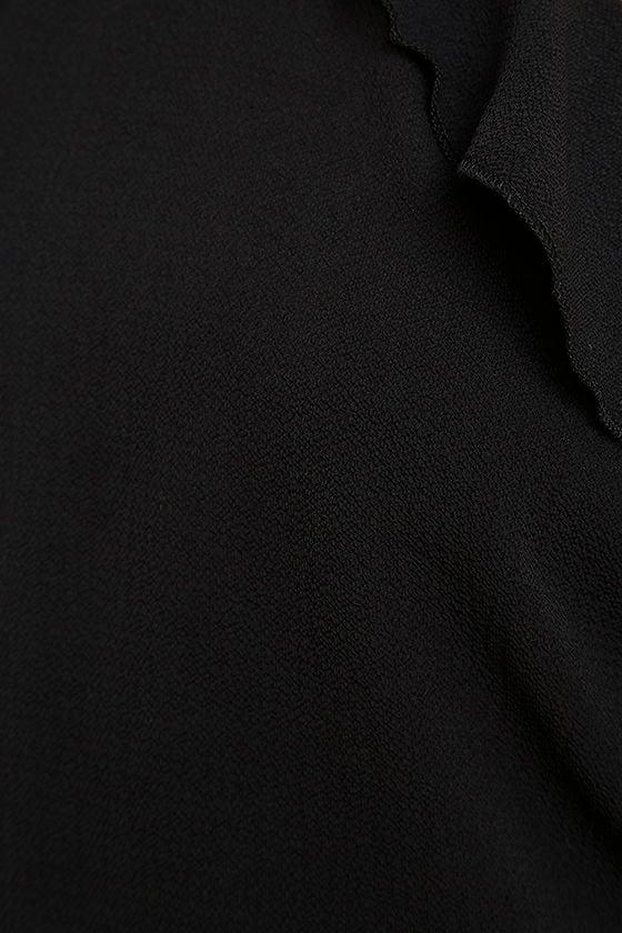 Palpitate Black Off-the-Shoulder Romper 7