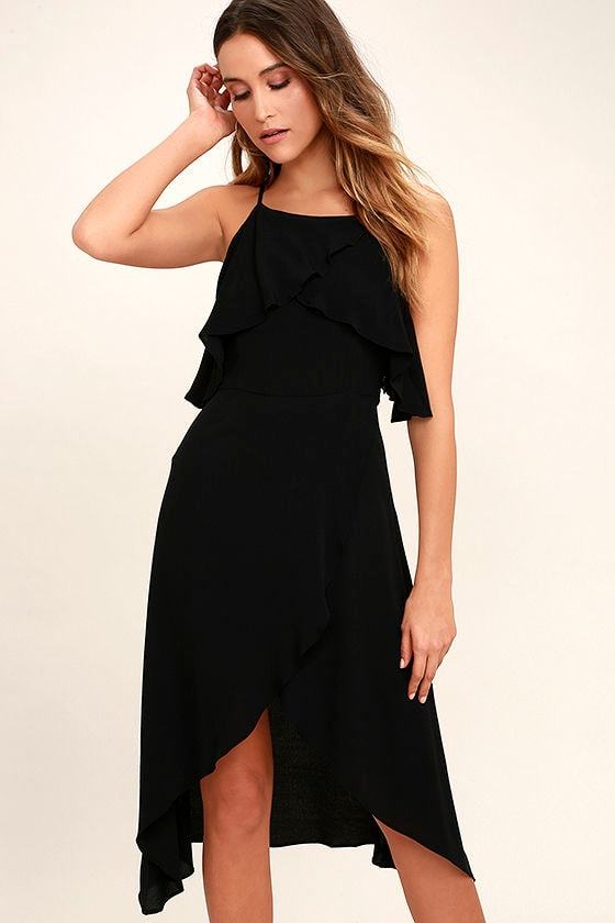 I Found You Black High-Low Dress 1