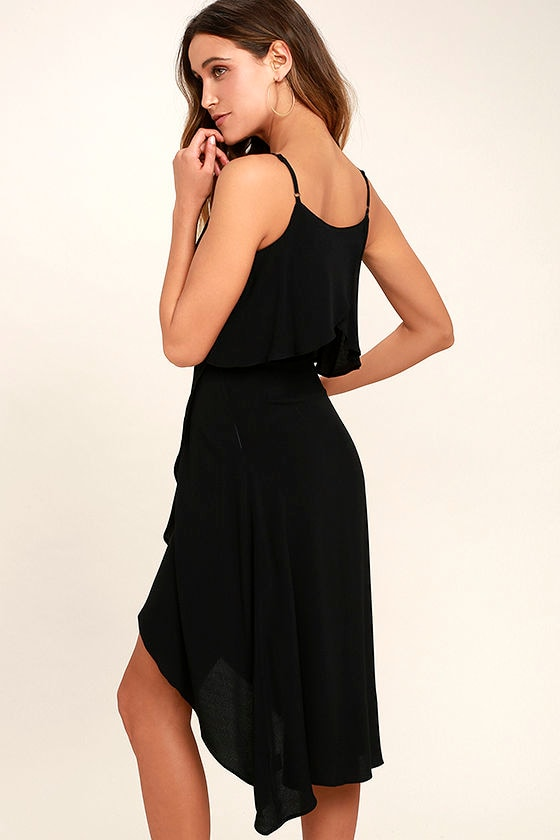 I Found You Black High-Low Dress 3