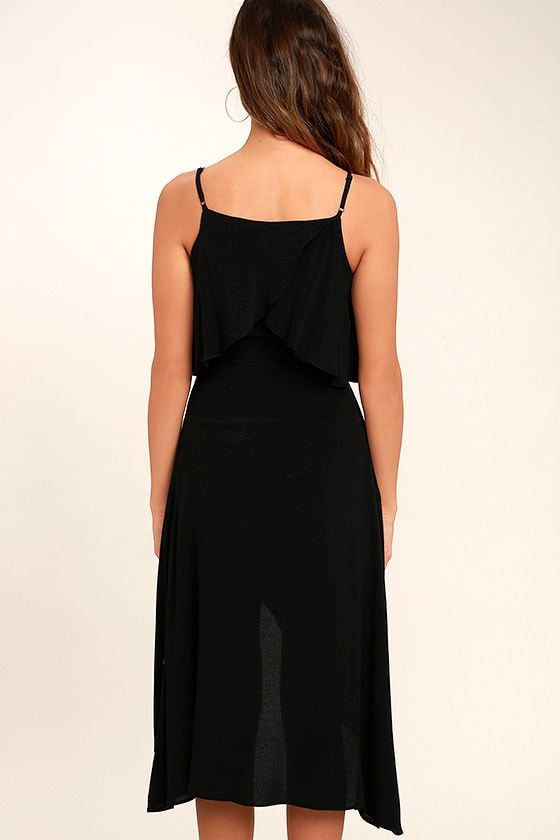I Found You Black High-Low Dress 4