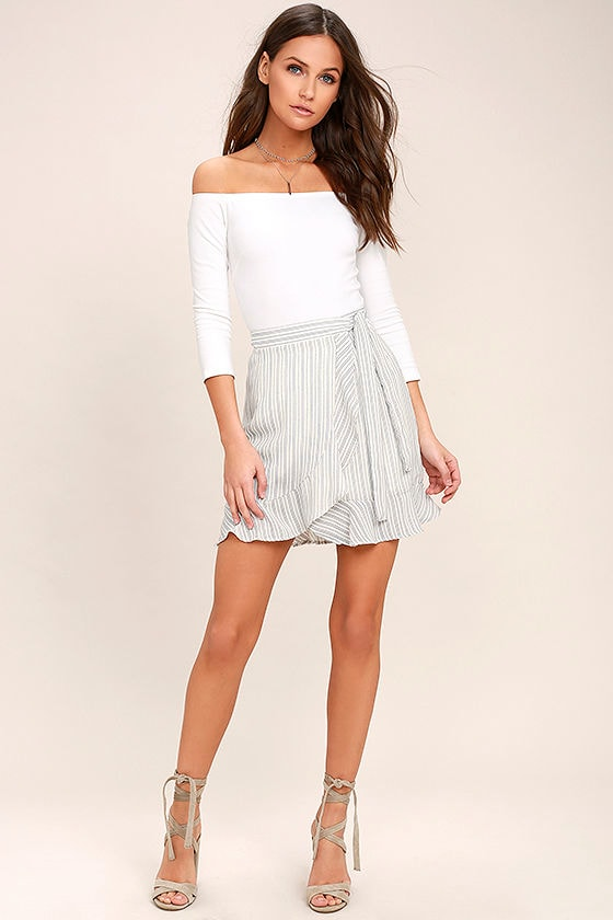 Wrap Mini Skirt - Skirts