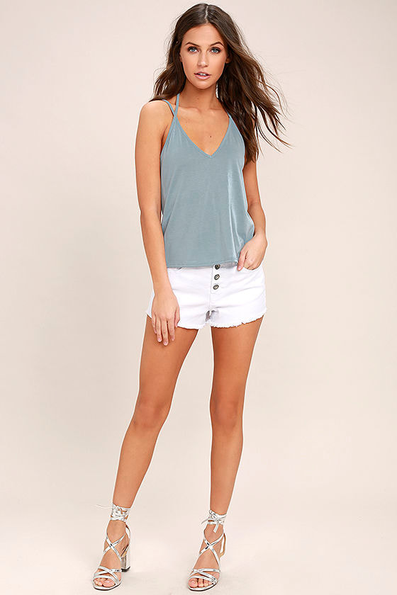 bcff6dbe62c8b Cool Light Blue Top - Crop Top - Tank Top - Strappy Top -  25.00