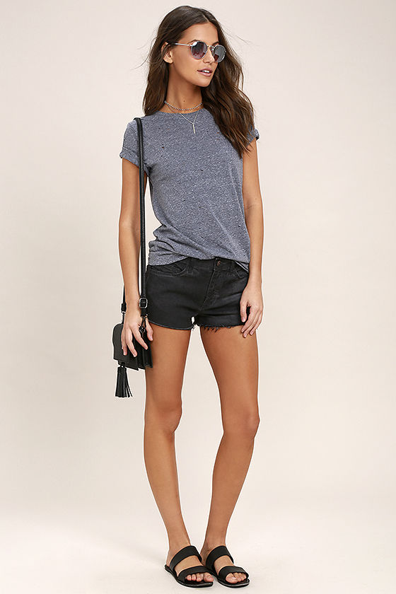 Cool Washed Black Shorts - Cutoff Shorts - Denim Shorts - $52.00