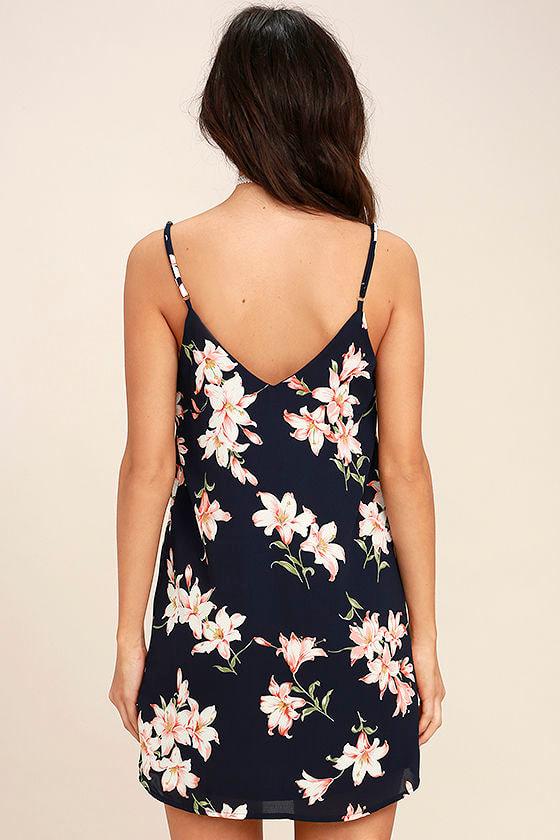Beachcomber Navy Blue Floral Print Shift Dress 4