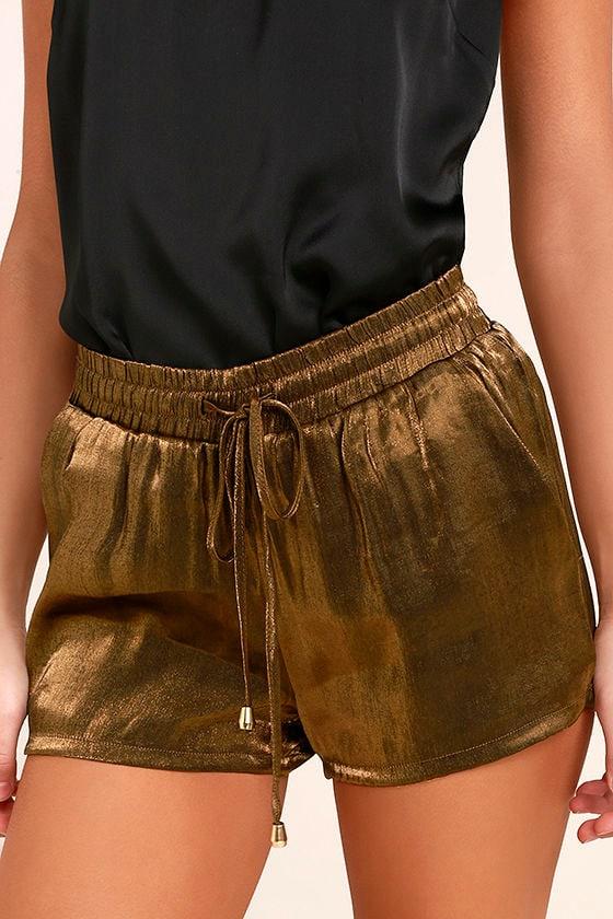 Roller Queen Brown Satin Shorts 1