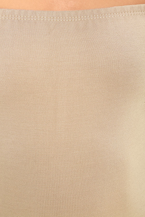 Like a Bird Taupe Off-the-Shoulder Bodysuit 7