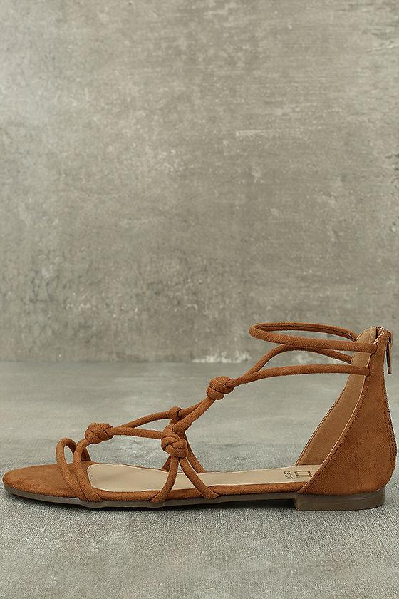 Rosabel Tan Suede Gladiator Sandals 2