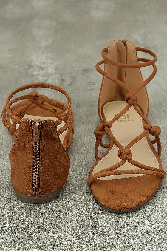 Rosabel Tan Suede Gladiator Sandals 3