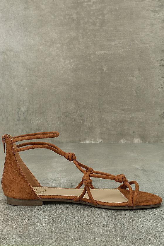 Rosabel Tan Suede Gladiator Sandals 4