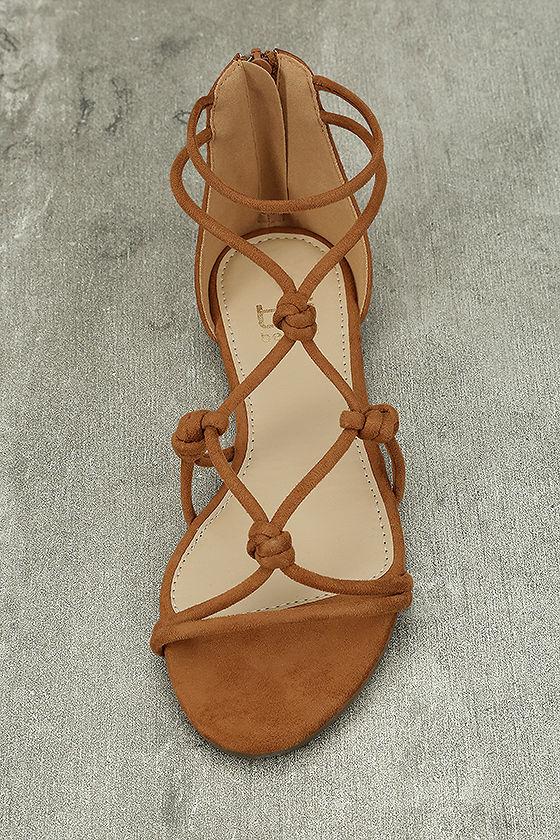 Rosabel Tan Suede Gladiator Sandals 5