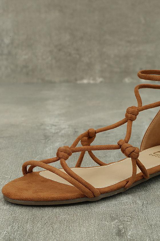 Rosabel Tan Suede Gladiator Sandals 6